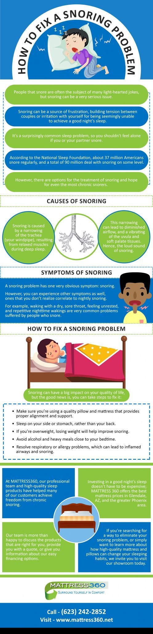 How to Fix a Snoring Problem infographic