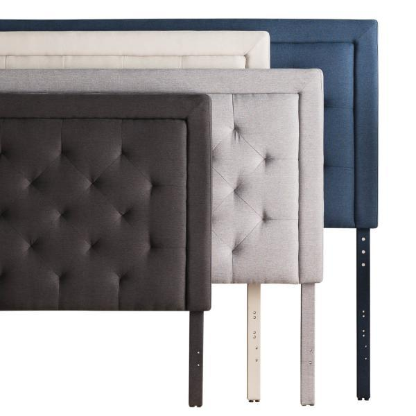 Malouf-Rectangle Diamond Tufted Upholstered Headboard