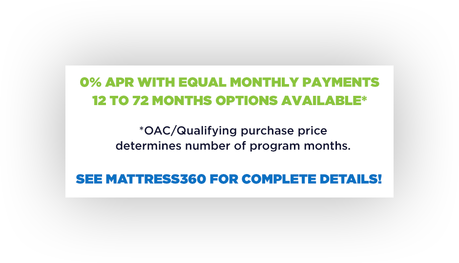 0% APR with Equal Monthly Payments 12 to 72 Months Options Available